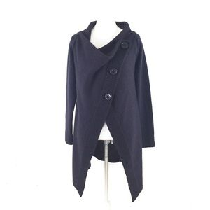 Cocogio Mohair Blend Cardigan Navy Blue Sweater